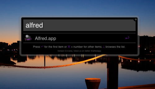 Alfred App Screenshot